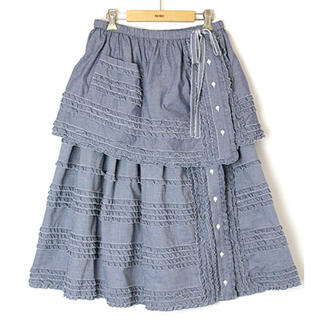 PINK HOUSE - PINK HOUSE タブリエ付きロングスカート