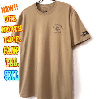 ザノースフェイス(THE NORTH FACE)のアウトドア ♪ 新品 ノースフェイス キャンプ Tシャツ ケルプタン 3XL(Tシャツ/カットソー(半袖/袖なし))