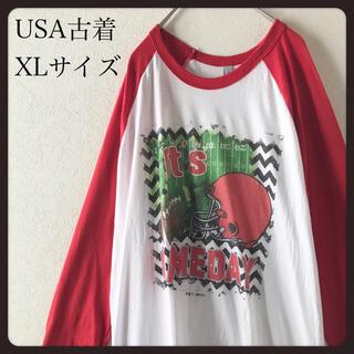 【 USA古着】THE5050  ラグラン 7分袖 カットソーXL ビンテージ (Tシャツ/カットソー(七分/長袖))