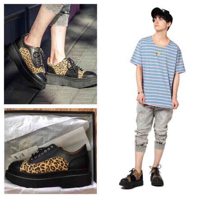glamb(グラム)の新品/グラム glamb/レザーブーツ/レオパード/③/27㎝ 27.5㎝ メンズの靴/シューズ(ブーツ)の商品写真