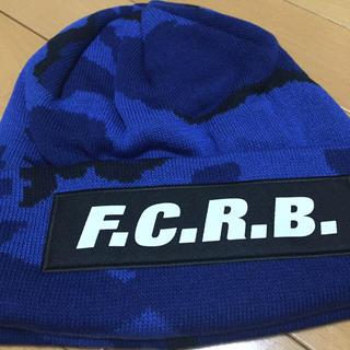 エフシーアールビー(F.C.R.B.)の完売品 16A/W F.C.R.B. カモフラ柄 ニットキャップ ブルー(ニット帽/ビーニー)