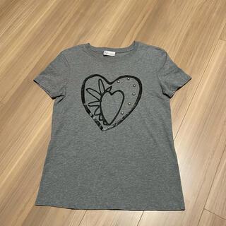 レッドヴァレンティノ(RED VALENTINO)のRED VALENTINO プリントxスタッズ Tシャツ(Tシャツ(半袖/袖なし))