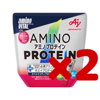 アジノモト(味の素)の【新品】「アミノバイタル」アミノプロテイン カシス味 30本入パウチ ×2(アミノ酸)