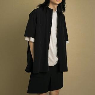 Uiscel ドライバンドカラーシャツ(5分袖) A