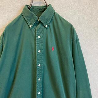 ポロラルフローレン(POLO RALPH LAUREN)の90s ラルフローレン BDシャツ 緑 グリーン ゆるだぼ vintage(シャツ)