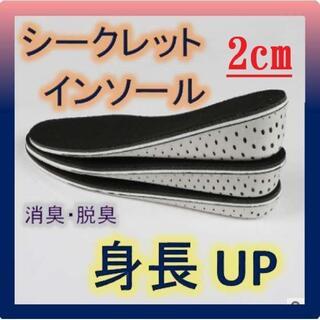2cmUP シークレットインソール 男女兼用  身長アップ 防臭 防菌(その他)