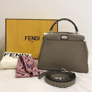 FENDI - ピーカブー スモール タブグレー セレリアバッグ