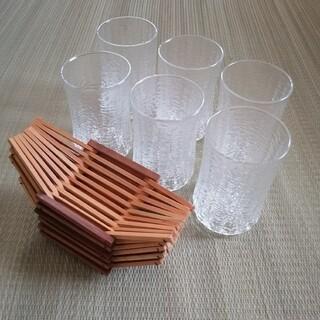 トウヨウササキガラス(東洋佐々木ガラス)の昭和レトロ 東洋ガラス タンブラーセット 6客(グラス/カップ)