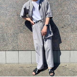 ジエダ(Jieda)の韓国 ノーカラーシャツ テーパードパンツ セットアップ (セットアップ)