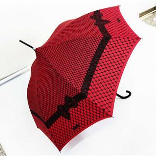 シャンタルトーマス(Chantal Thomass)のChantal Thomass 雨傘/日傘 リボン CT406(ルージュ)(傘)