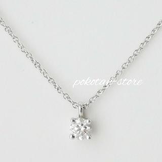 Tiffany & Co. - 美品【ティファニー】Pt950×ダイヤモンド ソリティア ペンダント ネックレス