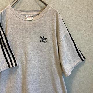 アディダス(adidas)の90s アディダス ライン Tシャツ トレフォイル ゆるだぼ vintage(Tシャツ/カットソー(半袖/袖なし))