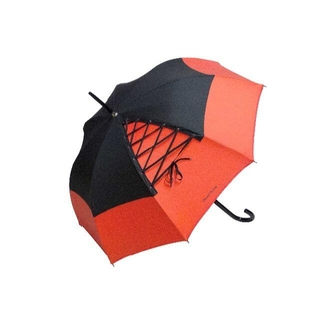 シャンタルトーマス(Chantal Thomass)のChantal Thomass 雨傘/日傘 レースアップ CT198(ルージュ)(傘)
