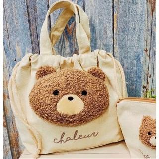 フタフタ(futafuta)のillusie クマさんぬいぐるみ付き  巾着トート(トートバッグ)
