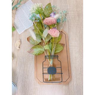 ♡⃛ハンドメイド インテリア 壁掛け フェイクグリーン 造花 シンプル(その他)
