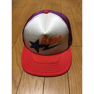 A BATHING APE - 新品ですがシワや汚れありAPEキャップAMPMカラー帽子スター星