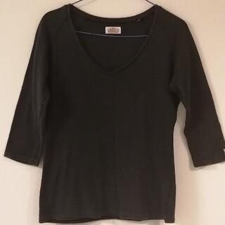 ハリウッドランチマーケット(HOLLYWOOD RANCH MARKET)のハリラン ストレッチフライス ハーフスリーブ ダークグレー(Tシャツ/カットソー(七分/長袖))