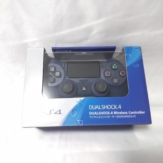プレイステーション4(PlayStation4)のPS4 純正コントローラー CUH-ZCT2J ミッドナイトブルー 美品(家庭用ゲーム機本体)