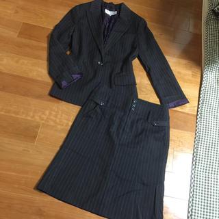 ザジ(ZAZIE)のザジ ストライプ グレー スーツ 三点セット(スーツ)