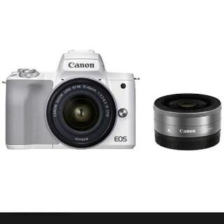 キヤノン(Canon)のmiiko様専用Canon EOS Kiss M2 ダブルレンズキット(ミラーレス一眼)