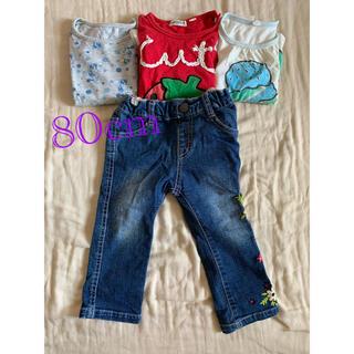 ユニクロ(UNIQLO)の女の子 80cm まとめ売り ユニクロ(Tシャツ)