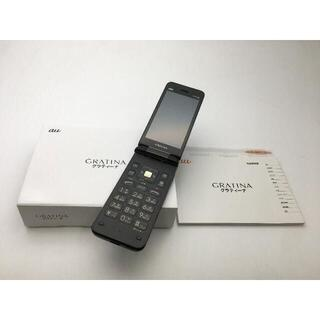 キョウセラ(京セラ)の528 SIMフリー au GRATINA KYF39 ブラック◆良品◆(携帯電話本体)