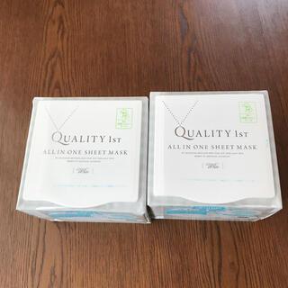 クオリティファースト(QUALITY FIRST)のオールインワンシートマスクW EX  2個セット(パック/フェイスマスク)