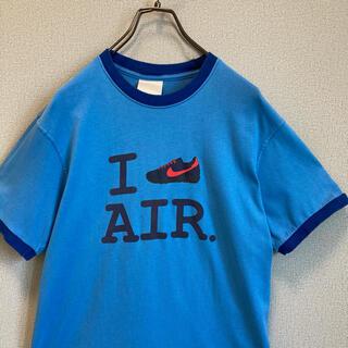 ナイキ(NIKE)の90s NIKE リンガー Tシャツ スカイブルー×ブルー ゆるだぼ(Tシャツ(半袖/袖なし))