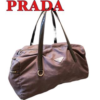 プラダ(PRADA)のプラダ PRADA レザーナイロン ミニ ボストンバッグ(ボストンバッグ)