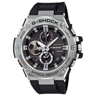 カシオ G-SHOCK クロノグラフ モバイルリンク ソーラー 腕時計 ブラック