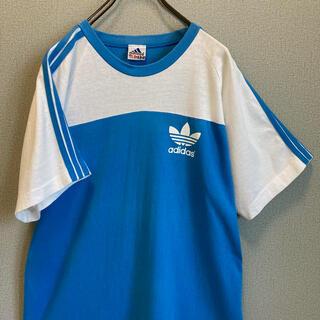 アディダス(adidas)の90s アディダス ビックロゴ トレフォイル Tシャツ バックプリント ゆるだぼ(Tシャツ(半袖/袖なし))