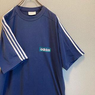 アディダス(adidas)の90s アディダス ライン Tシャツ バックプリント ゆるだぼ vintage(Tシャツ(半袖/袖なし))