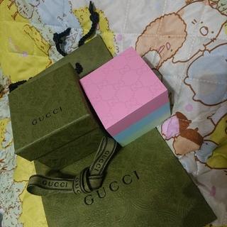 グッチ(Gucci)のGUCCI グッチ 新品 非売品 GG ふせん 付箋 メモ帳 リボン ショッパー(ノート/メモ帳/ふせん)