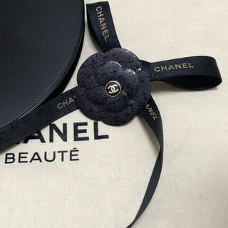 シャネル(CHANEL)のシャネル ラッピングリボン ブルー19  3Mカメリア付き(ラッピング/包装)