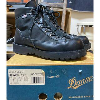 ダナー(Danner)のダナーライト ブラック US7 25cm made in USA DANNER(ブーツ)