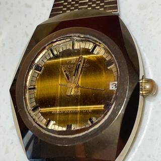 TECHNOS - テクノス ボラゾンⅧ タイガーアイ 時計 ジャンク