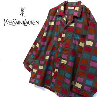 サンローラン(Saint Laurent)の美品 オールド YSL イヴ・サンローラン パジャマシャツ メンズL相当(シャツ)