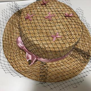メゾンドフルール(Maison de FLEUR)のMaison de FLEUR カンカン帽 メゾンドフルール(麦わら帽子/ストローハット)