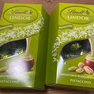 リンツ(Lindt)のリンツ リンドールピスタチオ200gx2 大体32個 関東内発送限定 気温調整(菓子/デザート)