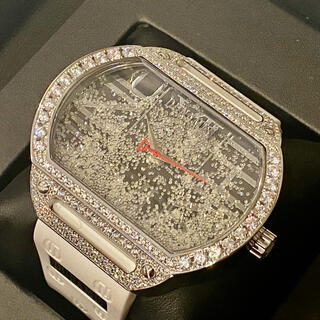 ウブロ(HUBLOT)の超極美品 セレブ ダイヤモンド デュナミス ヘラクレス 夏 海 ホワイトラバー(腕時計(アナログ))