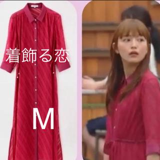 ラブレス(LOVELESS)の着飾る恋には理由があって 川口春奈 ラブレス はっ水シアーシャツドレス(ロングワンピース/マキシワンピース)