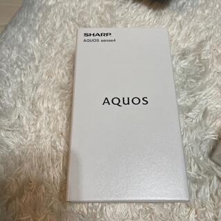 アクオス(AQUOS)のAQUOS sense 4 SH-M15 ブラック 64GB SIMフリー(スマートフォン本体)