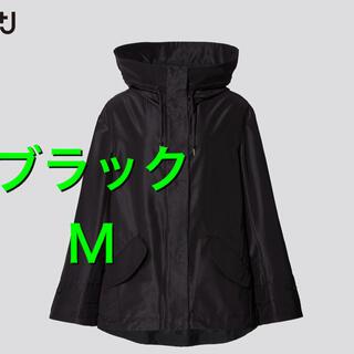 UNIQLO - ユニクロ +J シルクブレンドオーバーサイズパーカ 黒 M