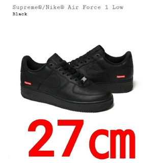 Supreme - 27㎝ Supreme Nike Air Force 1 Low Black 黒