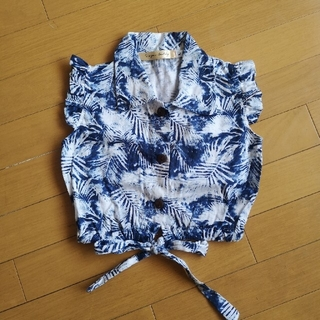 ザラ(ZARA)のインポート♡ボタニカル リゾート ウエストリボン ブラウス(Tシャツ/カットソー)
