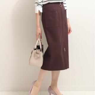 ノーブル(Noble)のNoble フープジップタイトスカート  ノーブル ブラウン (ひざ丈スカート)