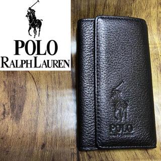 ポロラルフローレン(POLO RALPH LAUREN)の美品 POLO Ralph Lauren ポロラルフローレン キーケース 黒(キーケース)