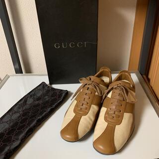 グッチ(Gucci)の新品 GUCCI グッチ ドレスシューズ レザースニーカー サイズ40 E(スニーカー)