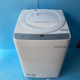 SHARP - 530 送料設置無料 SHARP 大容量6キロ 最新19年製 極美品 洗濯機