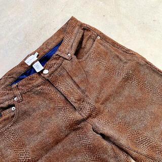 ジョンローレンスサリバン(JOHN LAWRENCE SULLIVAN)の【90s】calvin klein jeans レオパード フレアパンツ 古着(デニム/ジーンズ)